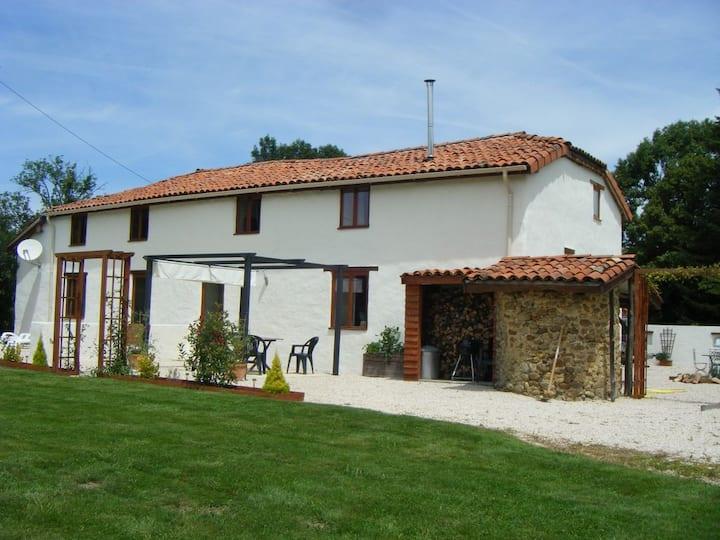 Quiet farmhouse in rural France