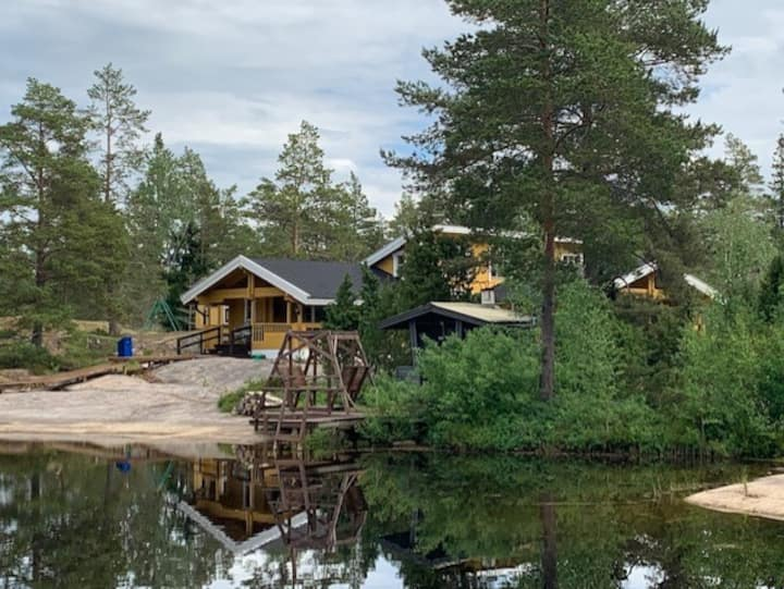 Big Holiday Villa with an own Lake and sauna's