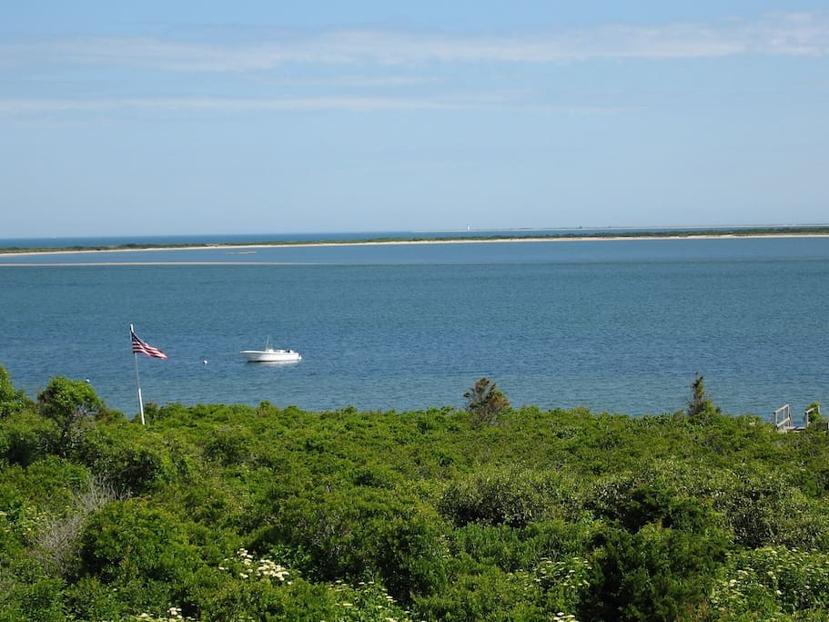 Harbor, Ocean, Coatue, and Great Point Lighthouse VIEWS. Also one boat mooring available