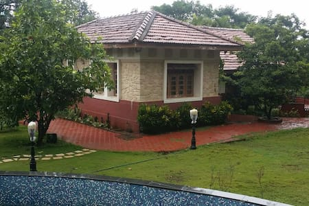 Colonial Style Villa with Waterfall - Lonavala, Maharashtra, India