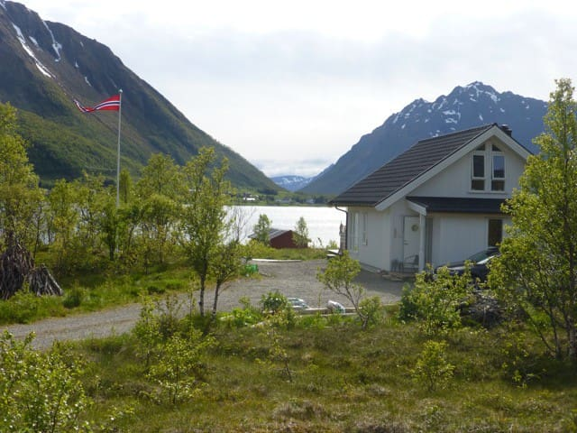 Fredheim cabin Lofoten at the fjord waterfront - Kleppstad - Stuga