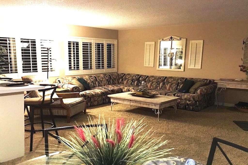 Living Room with sectional sofa bed