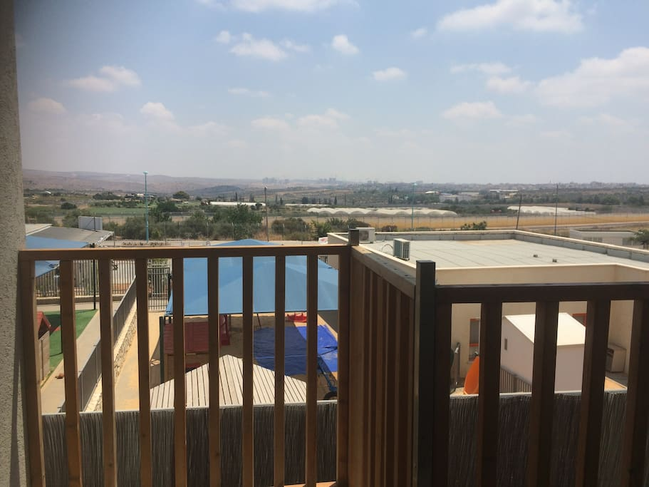 View and balcony from the living room