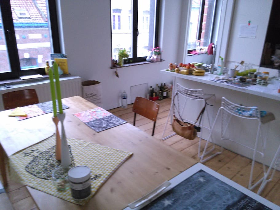 The lovely kitchen where you can prepare your meals.