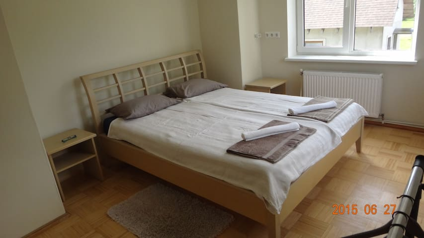 Nice room, comfy bed, friendly host - Ziedonis - House