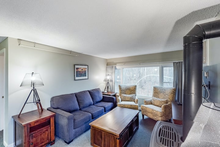 Budget & family-friendly condo w/forest views, shared hot tub/pool/basket/gym