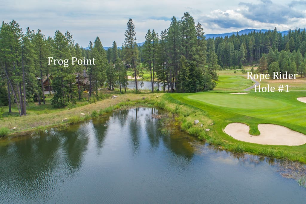 The finest location in Suncadia! Frog Point on 2 ponds and 2 holes of the Rope Rider Golf Course!