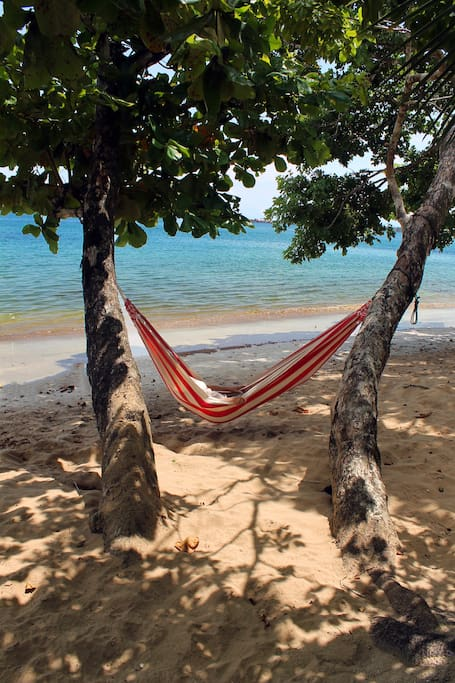 Stretch out a hammock and take a nap or read a book!