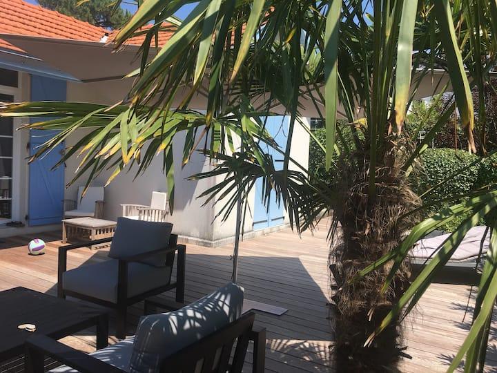 Arcachon Calme, Charmante villa,  Plages à pied