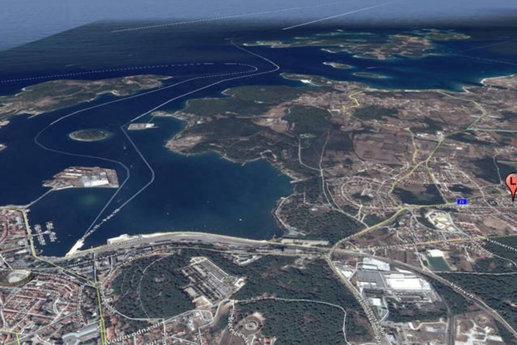 Veduta aerea di Pola