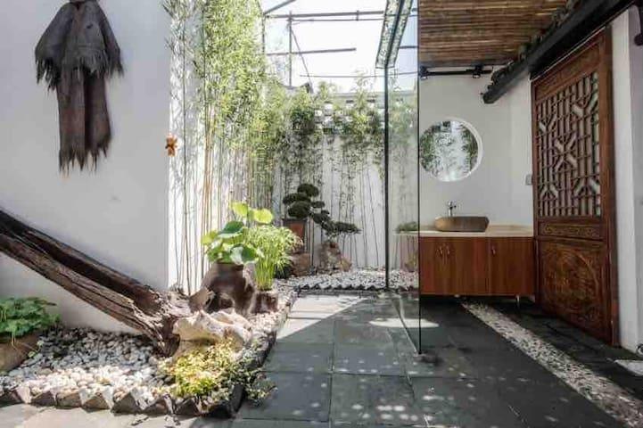 平江路东藩儒巷,名为一间屋子两居室独门独院苏式庭院民宿