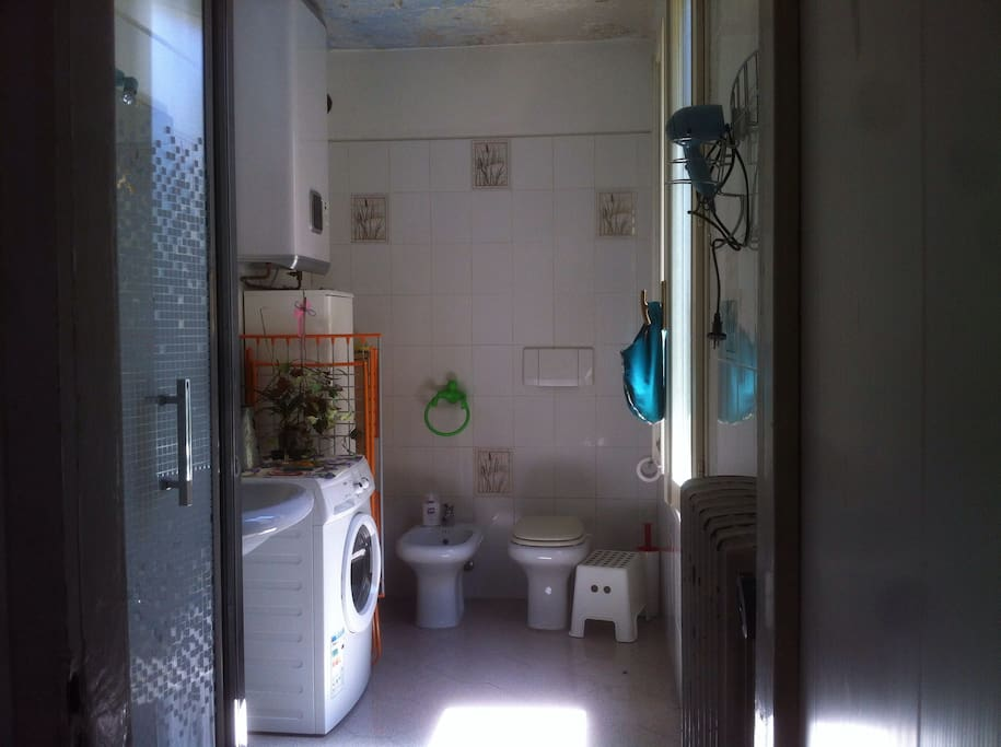 private bathroom of the single room