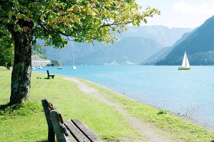 Idyllische Wohnung am Achensee mit Seeblick