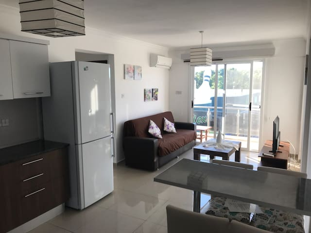 New 2 bedroom, front view, cozy flat (famagusta)