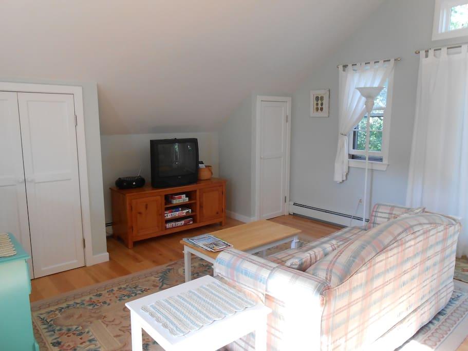livingroom, double closets