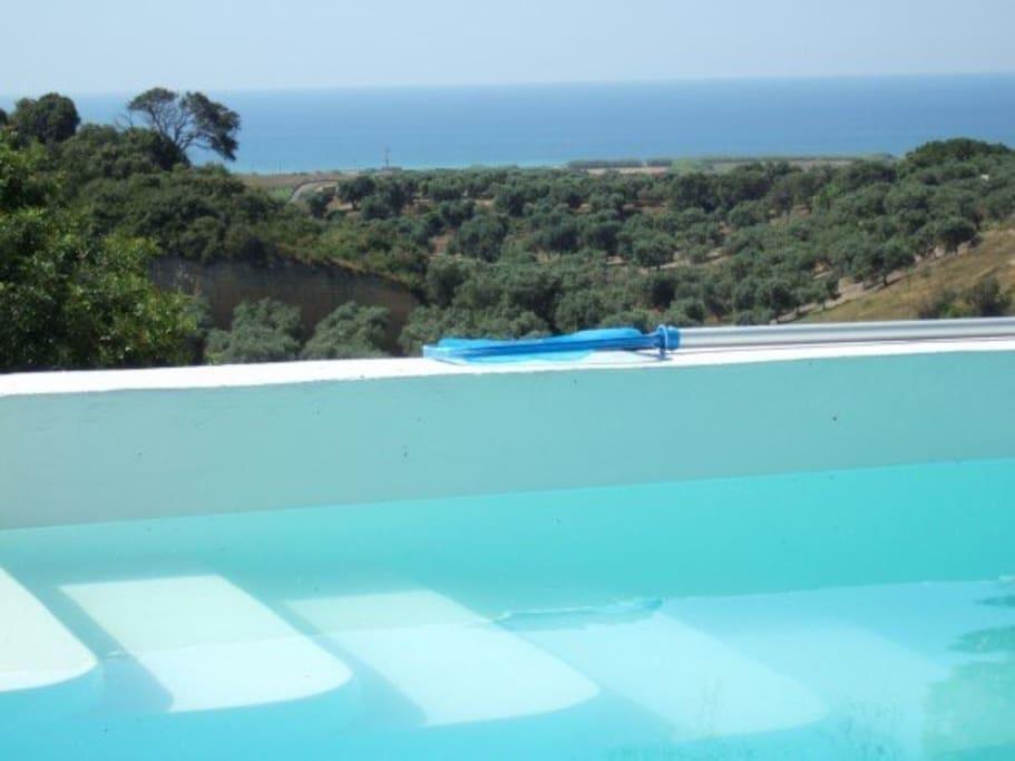 Il mare visto dalla casa (1km) / Sea view from the house (1km)
