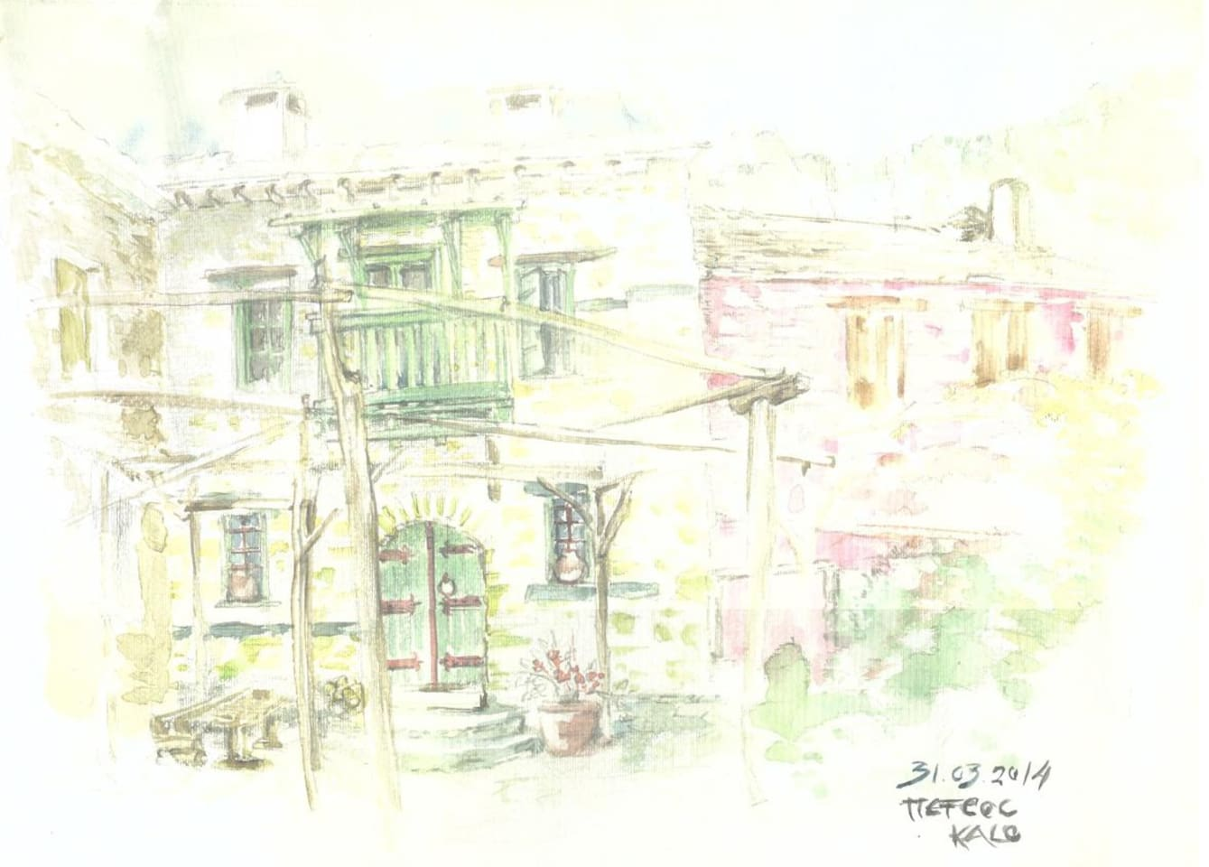 drawing of the yard