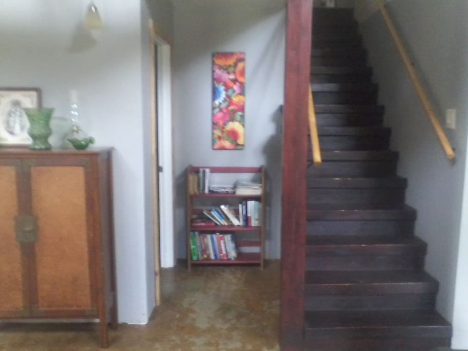 (12) Stairs to 2 upstairs bedrooms.