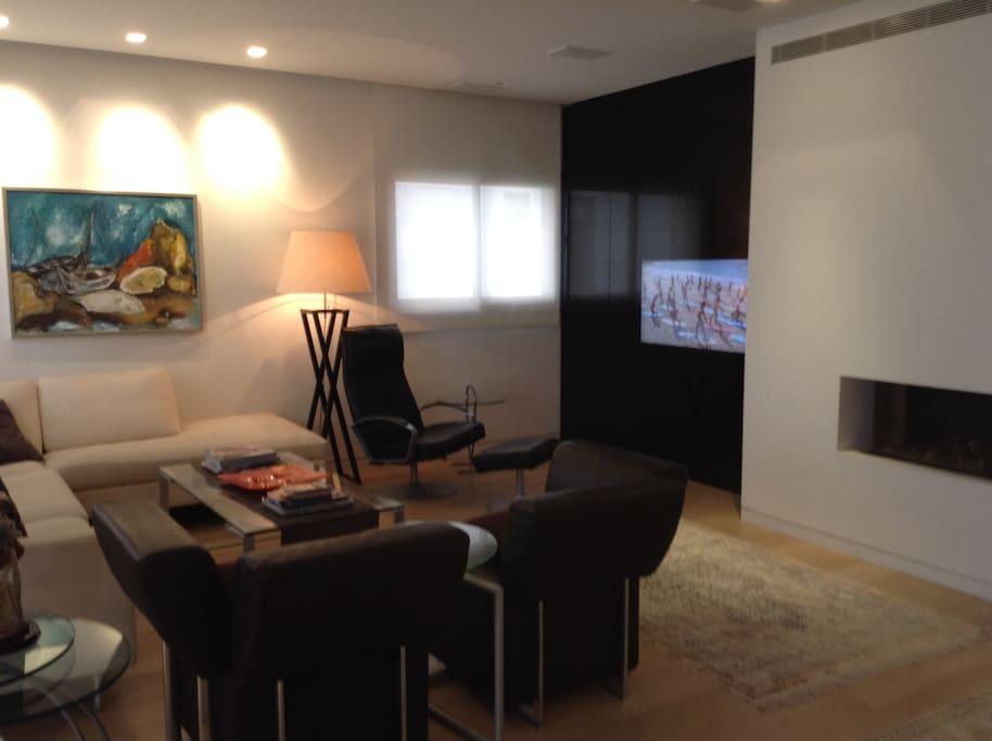 tv corner in the living room