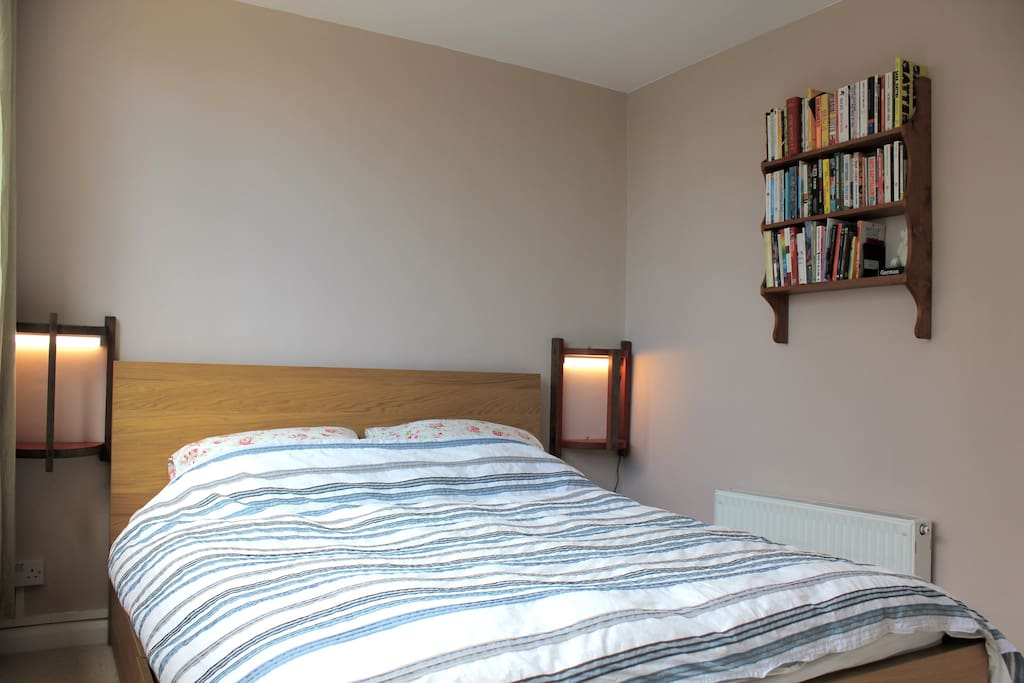 The bedroom with comfortable double bed