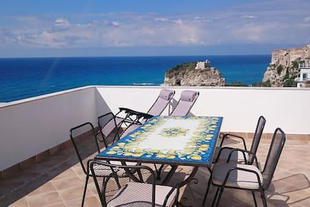 Tropea Penthouse Panorama View - Tropea - Apartment