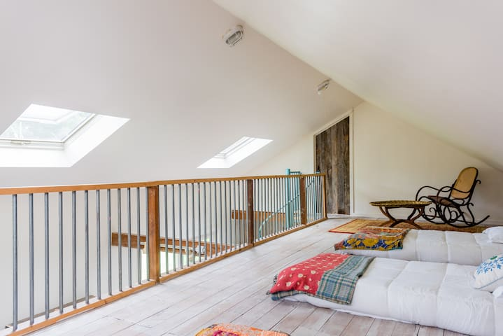 Sleeping Loft can be set up with 2 twin beds upon request.