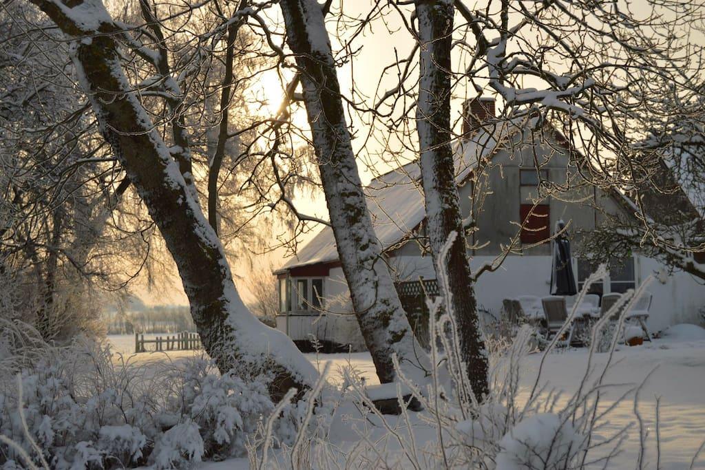 Her er også dejligt og fredeligt om vinteren