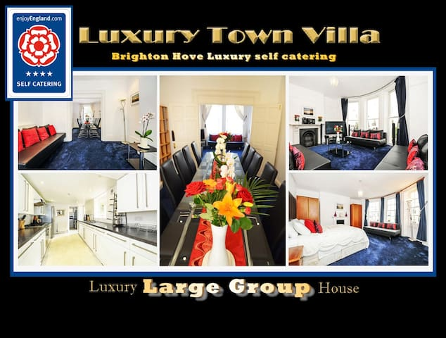 TOWN BEACH LARGE LUXURY VILLA - Sleeps 22 max - Hove - Ev