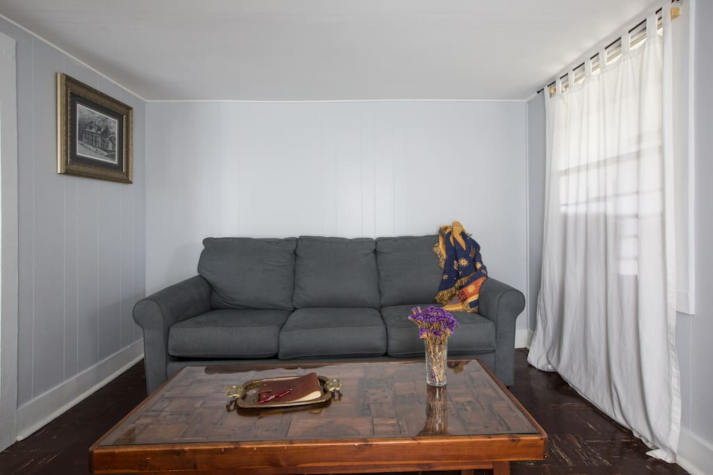Queen sleeper sofa available upon request.