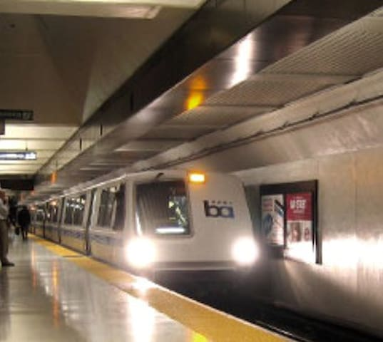 13 minute walk to Bay Area Rapid Transit (BART)