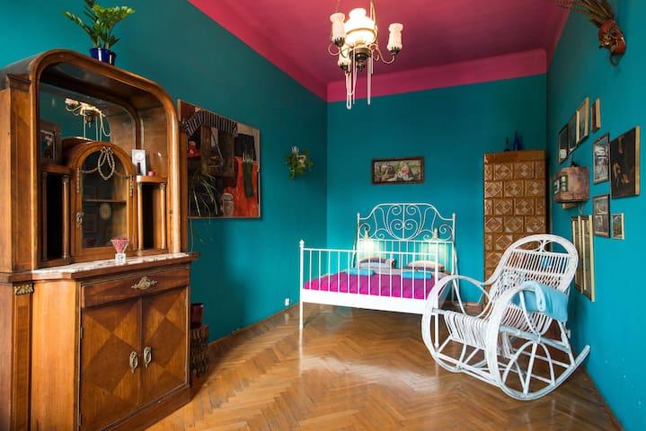 Old Town Kraków Turquoise Bedroom