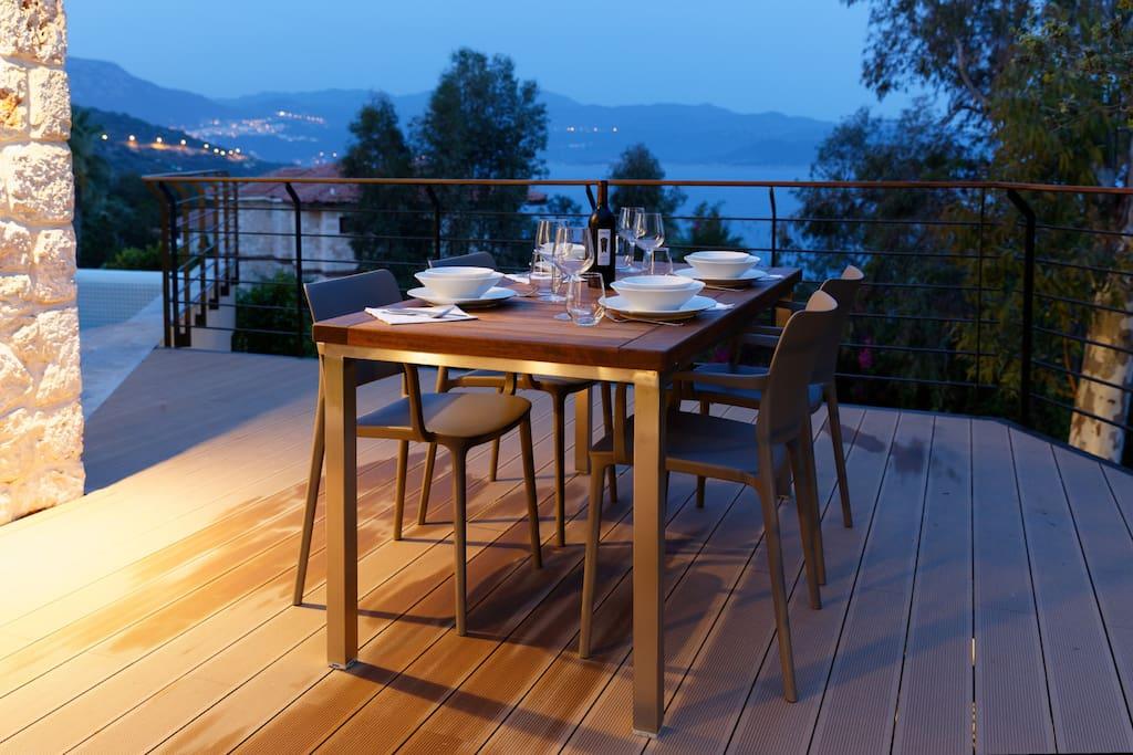 Dinner on deck