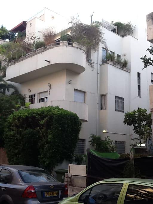 """Bauhaus Style"" building"