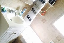 Bathroom with jacuzzi massage tub
