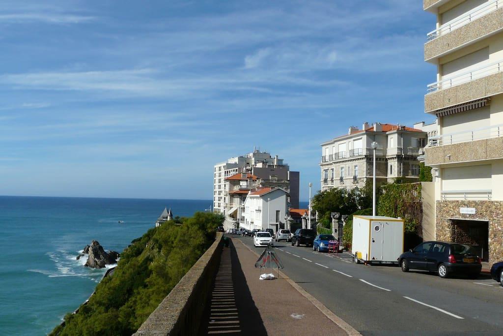 Avenue perspective côte des basques