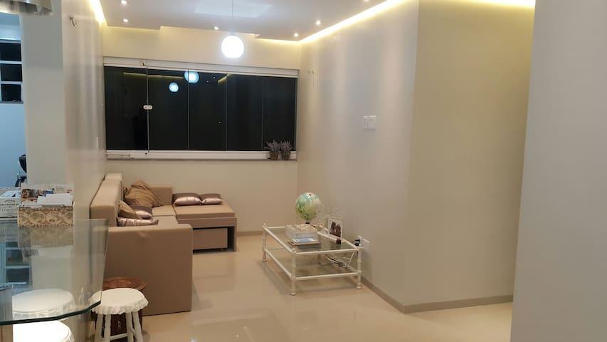 2 suítes, ar, wifi, TV, cozinha!!! - São Luis - Apartment