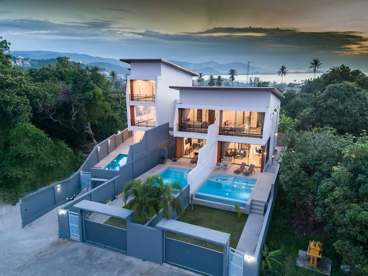 *NEW* Seaview 3 BR Modern Villa With Private Pool