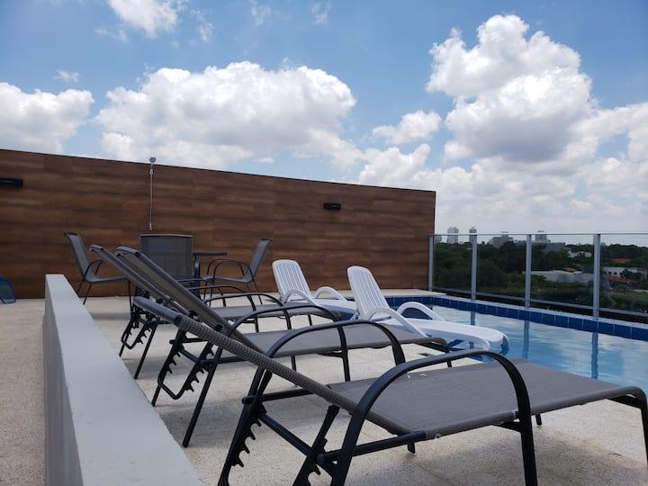 Suite 1 dormitorio - Start Villamorra Rent Apt
