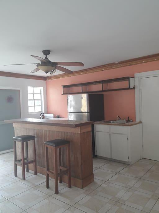 Kitchen area, open concept