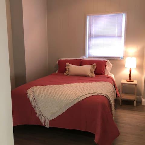 Queen bed - bedroom.