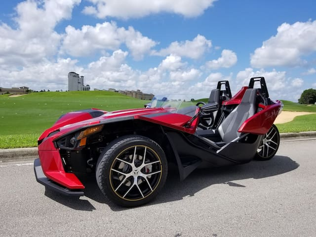 Polaris Slingshot also available for RENT during your stay ( Additional Cost )