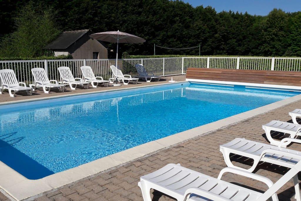 maison avec piscine pour 8 personnes maisons louer languidic bretagne france. Black Bedroom Furniture Sets. Home Design Ideas