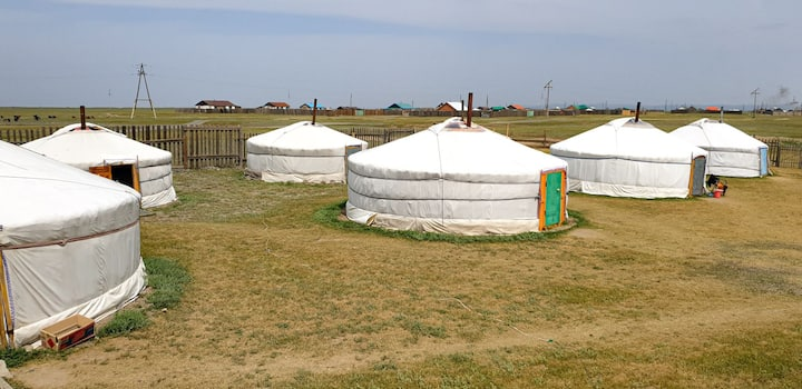 Yurt with 2 doubles beds
