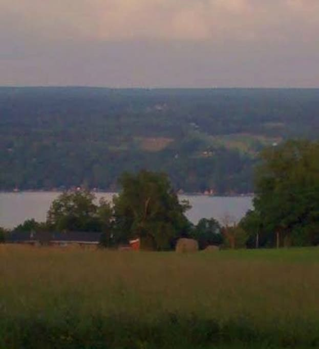 Beautiful Seneca Lake - a short walk from the house.
