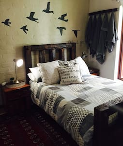 Lovely bedroom with double bed. - House