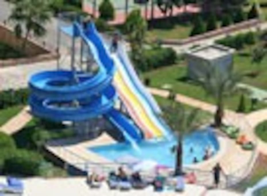The water slides