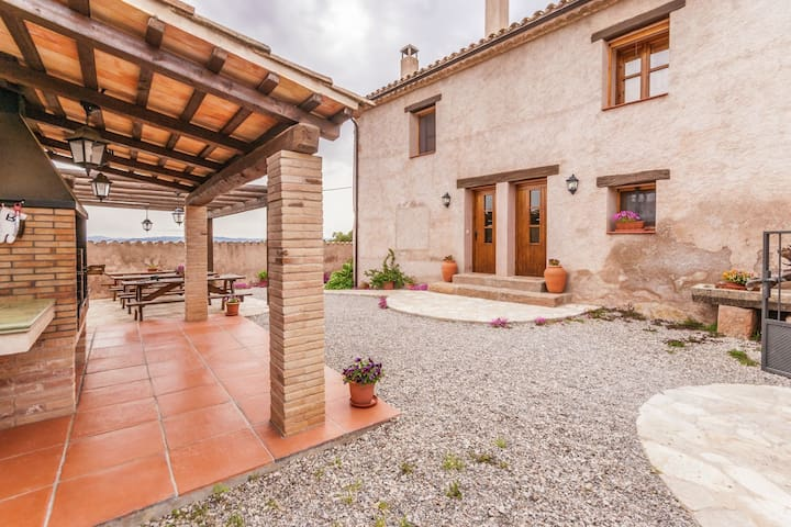 Restored farmhouse  with swimming pool in the interior of Catalonia