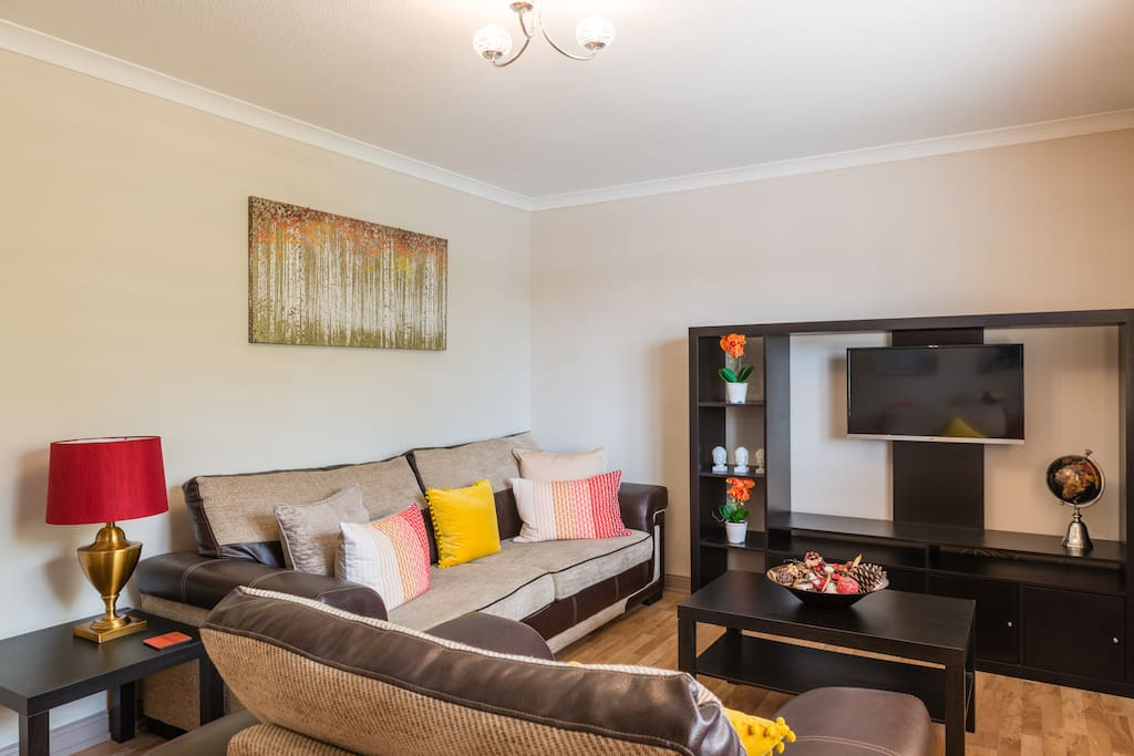 Large lounge area with lots of comfortable seating, overlooks the front of the property.