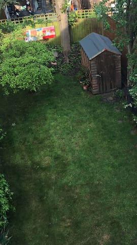 View from bedroom into garden