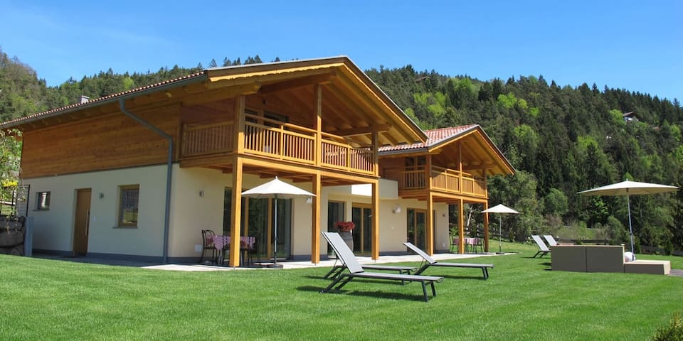 Gasserhof - Chalet A with Balcony, Mountain View, Garden & Wi-Fi; Parking Available